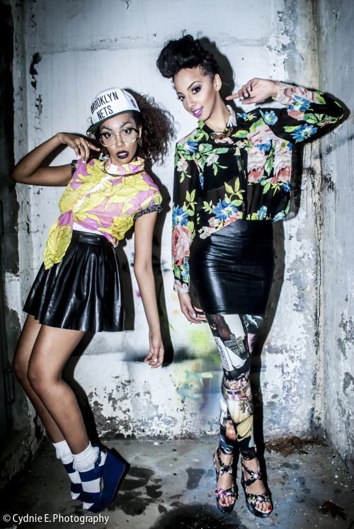 "blackfashion:  ""Neon Pop"" for CK Media  Outfit provided by CK Media Photographed by http://cydniee.tumblr.com/ Styled by: http://kairebelious.tumblr.com/ Models: Kay and Jas"