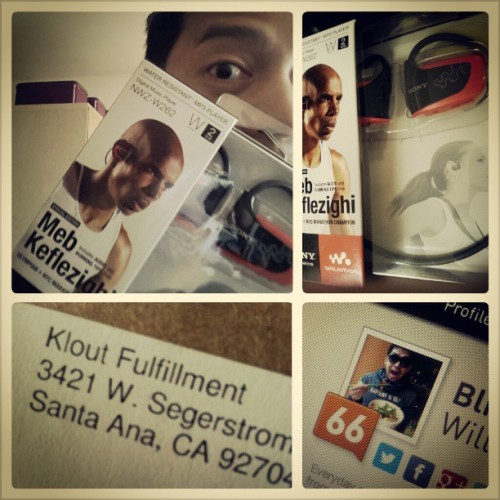Woooah! Thank you for the Perk, #Klout :D Recieved a Special Edition Meb Keflezighi Water Resistant MP3 player :) Joys of a #SocialMediaButterfly #gift #perk Perfect for #running :)