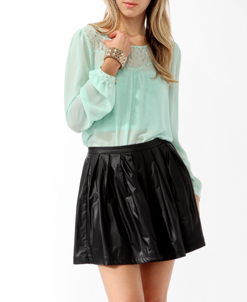 Sheer Glittered Blouse  Forever21.com - $17.80