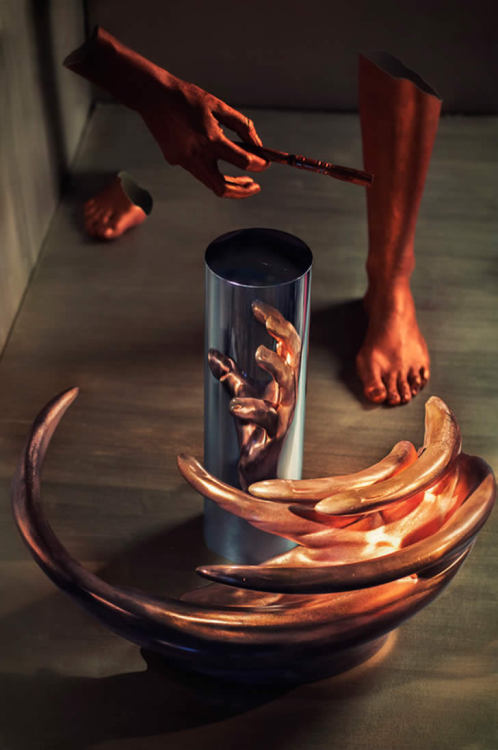 Rejuvenation by Jonty Hurwitz Copper and Chrome