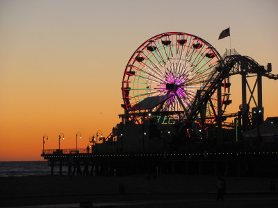 End of day fun on the Santa Monica Pier Taken by me in Santa Monica, CA