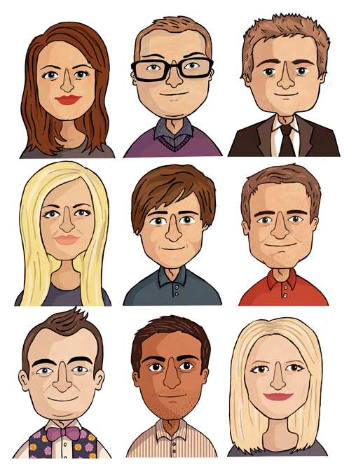 I was commissioned by Daniel Marks recruitment agency to draw portraits of the team for their LinkedIn profiles - here's a selection of them.