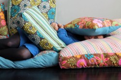 niftyncrafty:  DIY Jumbo Floor Pillows | Brit + Co. I know you tumblr folk like to laze around, and imagine doing it on your very own jumbo floor pillows, made in any pattern you wanted.  The comfort is something of dreams.