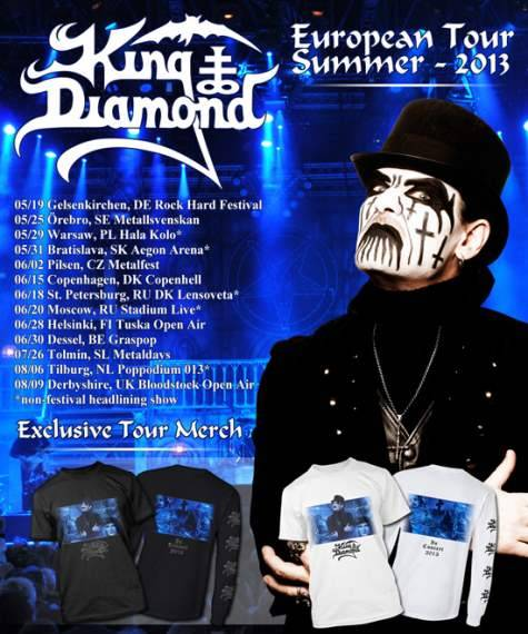 KING DIAMOND Kicks Off European Tour At Germany's ROCK HARD FESTIVAL (Video)        KING DIAMOND kicked off its European tour this past Sunday, May 19 at the Rock Hard Festival View Post
