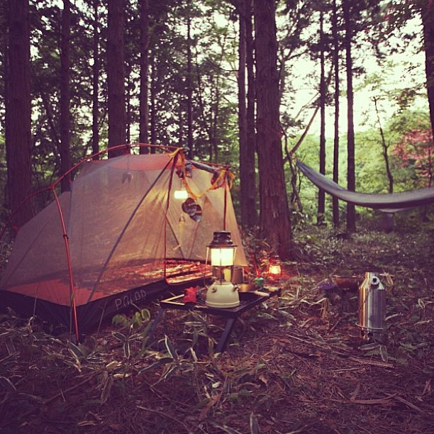 gnostic-forest:  coffeentrees:  Looks like @camperhaloo has things pretty well dialed! #campvibes The Poler one man tent in its natural habitat. www.polerstuff.com by polerstuff  Ahhhh I want this so badly
