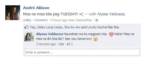 MISS KITA PAG TUESDAY! :(