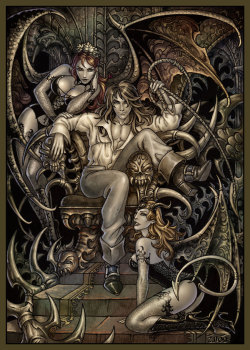 Richter and succubi by =Candra