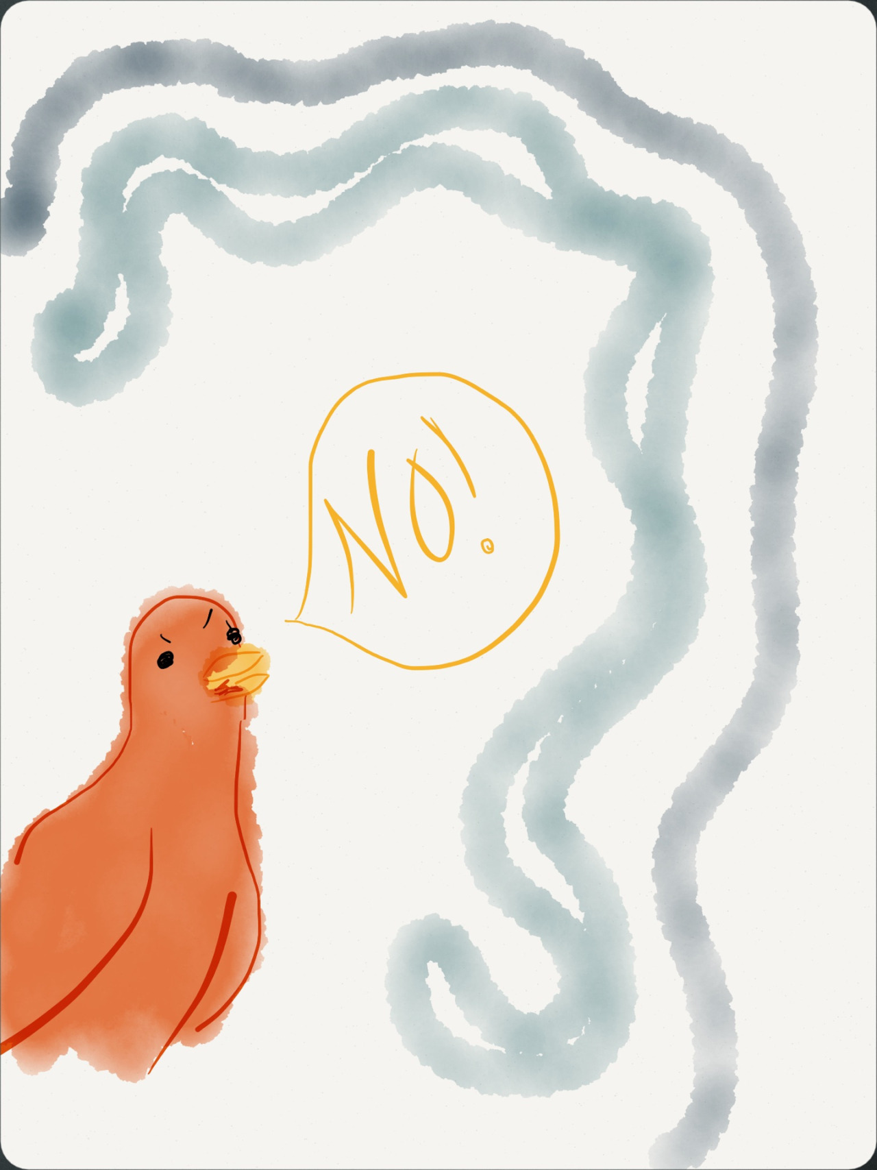 I drew this because I'm angry at my noisy upstairs neighbor.