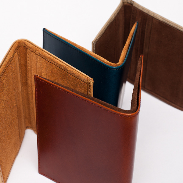 Suede lined vachetta leather wallets. Coming Monday on www.bergbergstore.com