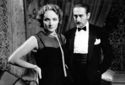 Marlene Dietrich and Adolphe Menjou in Morocco (1930).