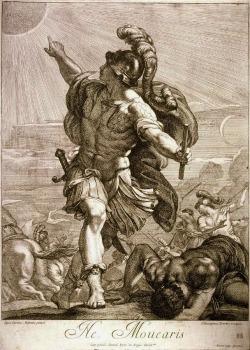 hadrian6:  Joshua arresting the Sun. 18th.century. Girolamo Ferroni. Italian 1687-1730. engraving. http://hadrian6.tumblr.com