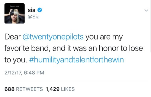 twenty one pilots top sia my faves grammys