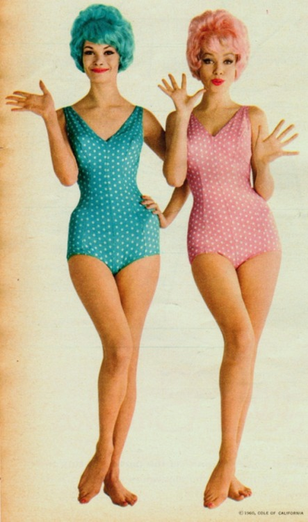 theswinginsixties:  Cole Of California swimsuits,1960