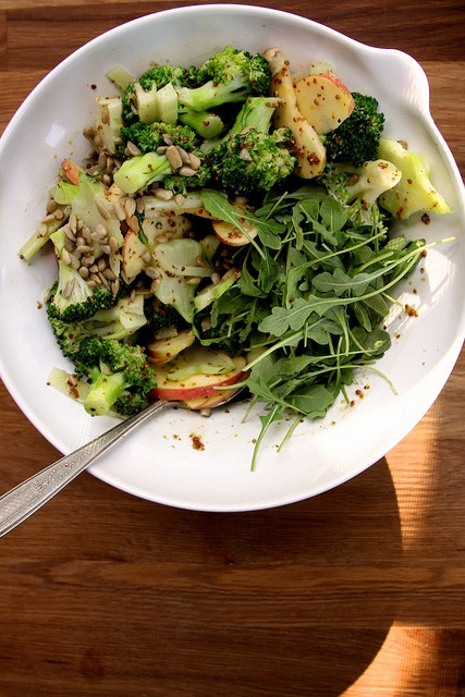 gastrogirl:  honey mustard, broccoli, and apple salad.