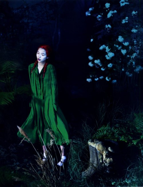 "modetorial:  Xiao Wen Ju in ""What Lies Beneath"" for Love Magazine, Fall/Winter 2011 ph. Mert Alas and Marcus Piggott"