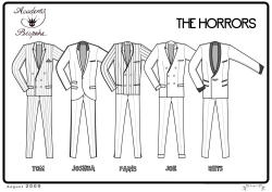 musiciansinsuits:  The Horrors' Suit Design