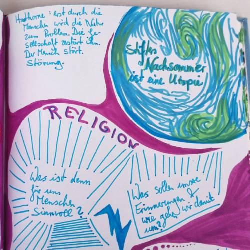 Ist das Betrachten einer Landschaft nicht auch Religion? Was ist heute für den Menschen sinnvoll? Was sollen unsere Erinnerungen und wie gehen wir damit um? ~Isn't observing landscape a kind of religion? What is important for people today? What are our memories for and how do we deal with it?~#stifter #AdalbertStifter #utopie #nachsommer #landschaftsbeschreibung #olang #skizzenbuch #zeichnung #meinung #frage #sinndeslebens #welt #globus #weltkugel #erinnerung #religion #landschaft #heute #suedtirol #erinnerungen #lila #hawthorne #gedanken #nachdenken #störung #schoenheitgibtesnicht (hier: Olang Südtirol)