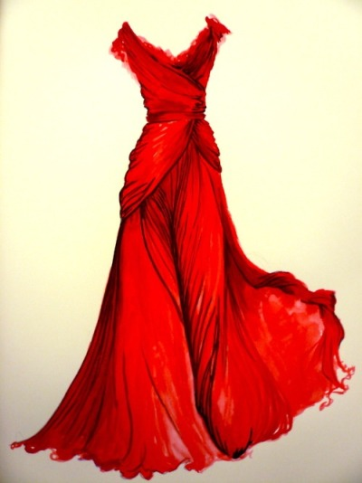 Oh how I wish I could wear red. This gown is absolutely gorgeous. Curse my ginger curls.