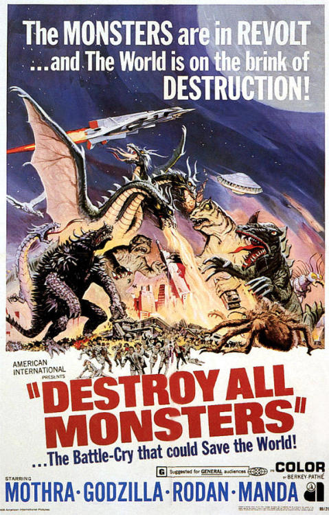 cryptofwrestling:  Destroy All Monsters (1968)  Ha