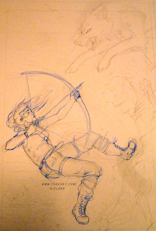#tombraider #laracroft pencil illustration I am working on for a contest over at #deviantart. I found out about the contest rather late so I hope I can finish this one on time.