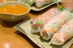 Nem Nuong Cuon / Pork Spring Rolls by HungryHuy.com on Flickr.
