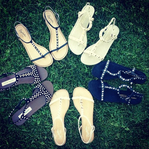 What a stud. New #studded #sandals have arrived. Shop Studded Sandals