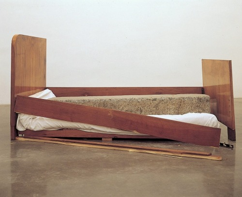 yesmaybe:   A Stone Asleep in Bed at Home, 2000Jimmie Durham