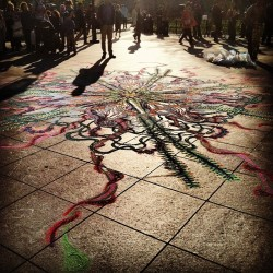 #nyc #westvillage #art #chalk #washingtonsquarepark #pretty (at Arch at Washington Square Park)