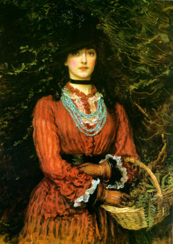 pre-raphaelisme:  Miss Eveleen Tennant by John Everett Millais