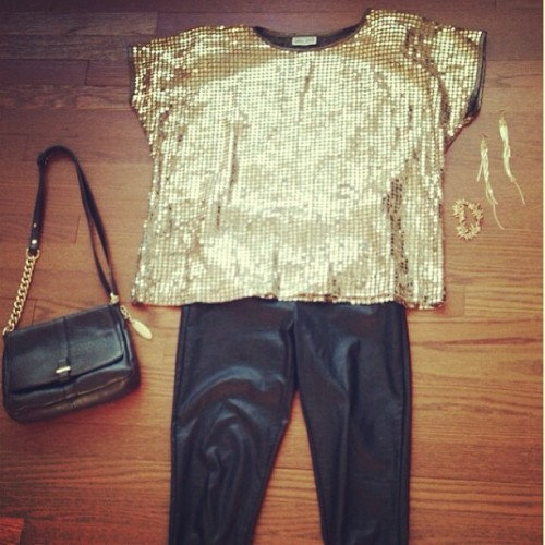 Style this stunner! Our #vintage gold sequin top ($19, in store now!) is perfect with leather skinnies, cap-toe heels, a little black #bag and tough #gold #accessories! #thrift #thrifty #thrifted #thriftshop #chicksthatpick #style #fashion #ootd #ootn #suede #cute #instagood #giftforthrift www.giftforthrift.com