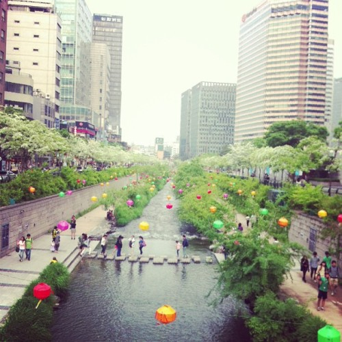 kyeongeunchoi:  청계천! ^^  I miss going to Cheonggyecheon TT_____TT