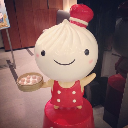 Cutest xiaolongbao mascot ever! (at 鼎泰豐)
