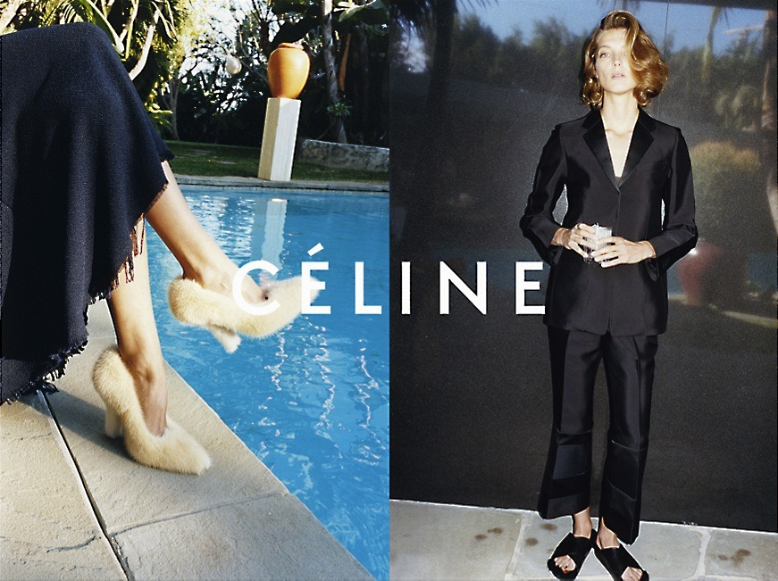 Céline by Daria Werbowy as Phoebe Philo, Summer 2013 Campaign