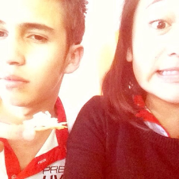 Hooooy! 16 mesesotes con este guapooo! Jiji te amooo mi vidaaa:33 #fun #face #me #him #love #happy #best #boyfriend #ever