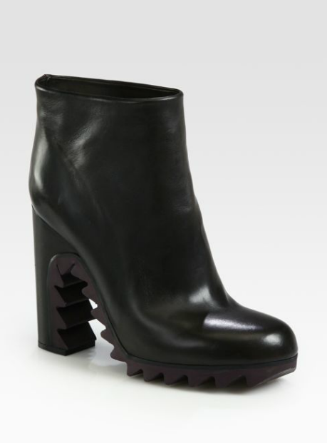 Jil Sander Sawtooth Ankle Booties