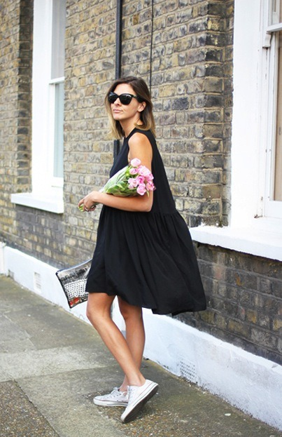flowy dresses, flowers, and shades. spring has sprung.