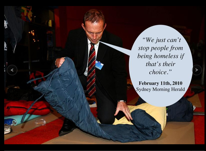 "theowlintheappletree:  protowilson:   'Fuck You!' starring Tony Abbott. He really has his finger on the pulse of the nation his dick.   behold, the sexist, brainless pig that is probably soon to be the leader of our country because people that jump on bandwagons and don't understand anything about policy or the australian economy will vote for him simply because they 'think gillard is shit'. It was put brilliantly by another once as: ""Voting for Abbott because you don't like Gillard is like eating shit because you don't like spinach"""