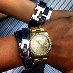 richkidsofinstagram:  Date Night w/ My Love. #hermes #rolex #cartier by thuraoo