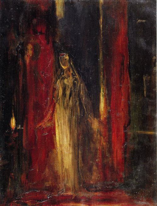 dipthatpen:  Study for Lady Macbeth by Gustave Moreau, ca. 1851