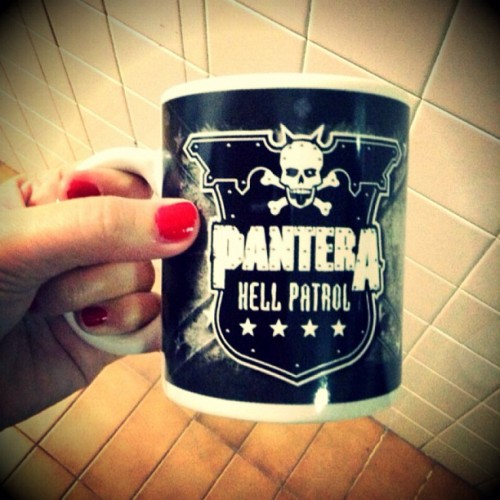 theneverendinganxiety:  Ooh! Only a Badass mug for my coffee addiction!  #pantera #coolios