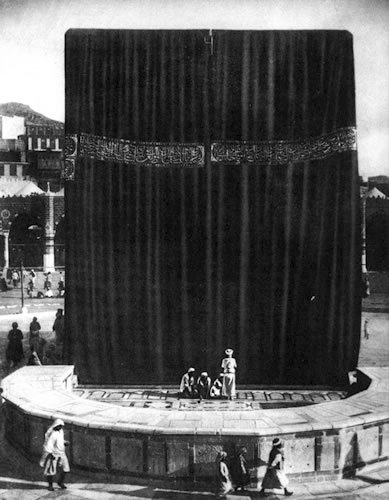 islamicthinking:  A very old photo of the Ka'aba. Subhanallah