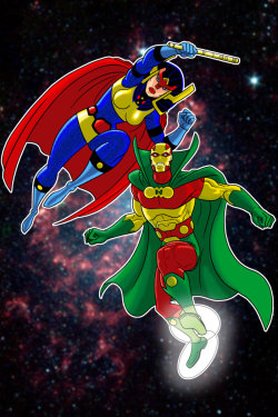 Big Barda and Mister Miracle by Terry Huddleston