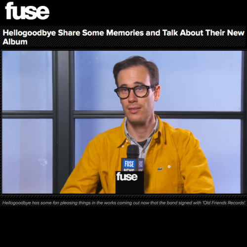 Forrest Kline of Hellogoodbye talks memories & signing to Old Friends Records in this FUSE TV interview! Watch it here. Hellogoodbye's digital deluxe edition of Would It Kill You? is now available for download on iTunes. Browse our online store for physical & vinyl options.