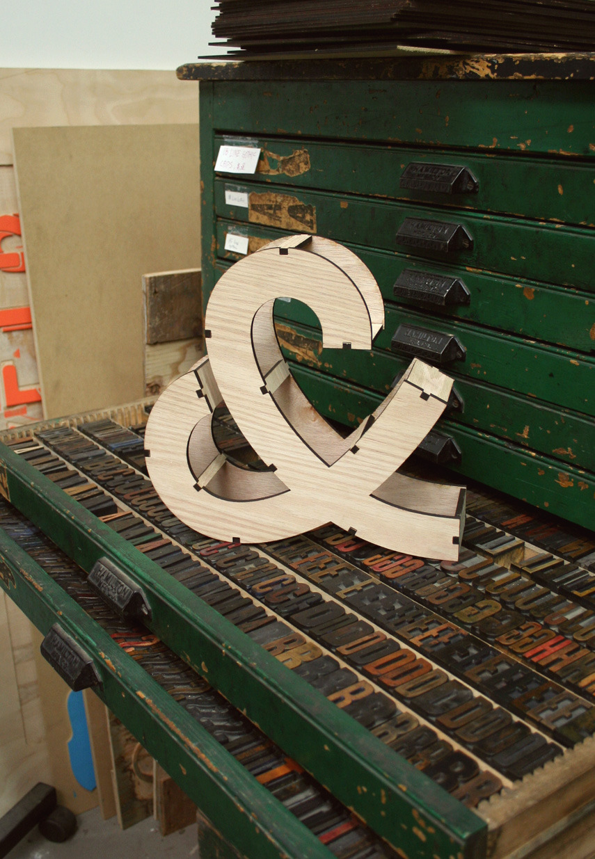 "iheartsolidtype:  Check out our 10.5"" custom ampersand! You can purchase this and more at shopMATTERIAL.com."