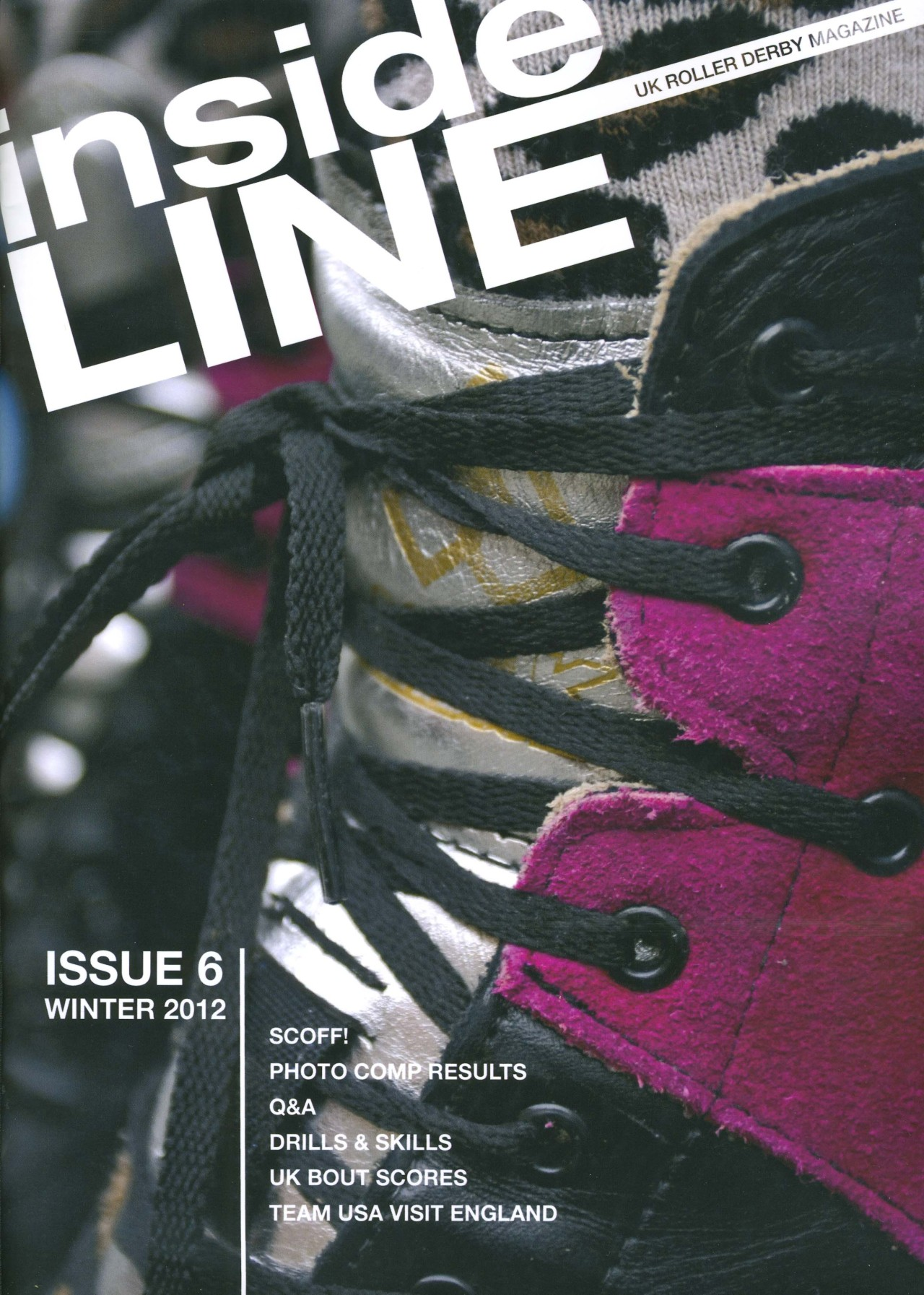 just realized i forgot to post about the december issue of inside line magazine! issue 6 contained the magazine's first photography contest which i helped organize, promote & judge alongside axle adams, raw heidi, mixtress von uber vixen and synyster motives. it was so tough to choose! but there was one clear winner: punkmarko  punkmarko is super cool, and had a wealth of useful information to share in the Q&A. please note that the photos you see above from the Q&A belong to him! : ) the gorgeous antiks on the cover belong to tattooed terror, of bristol roller derby. cover shot and Q&A: elena goodrum