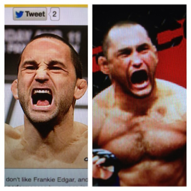 Is Frankie Edgar Dan Henderson's long lost kid.  #mma #ufc #hendo