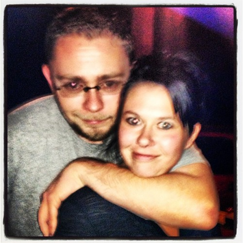 Me and my cousin Chuck. #buccos #karaoke #bar #fun #family #nutcases #crazyeyes