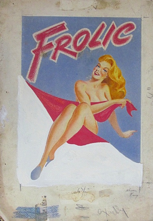 Warren King Pin up Artist Original Art 1945  HERE on the Blog with cover Frolic Digest    Collection Victor MInx