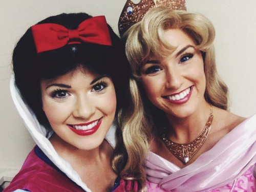 checkyesjessie:  Snow White and Aurora.   Princess selfies