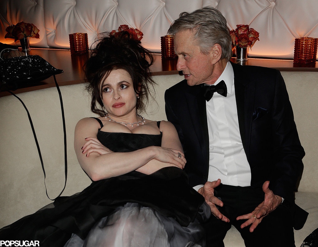 michaelhayes:  carolinek:  Best picture of the Oscars.  HBC doesn't care, Michael Douglas.